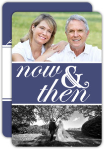 Now and Then Photo 20th Anniversary Party Invitation