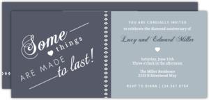 Two Tone Diamond Anniversary Invitation