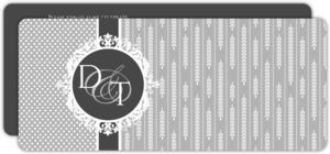 Delicate Vintage Style Silver Anniversary Invitation