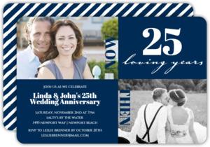 25 Loving Years Modern Squares Anniversary Invitation