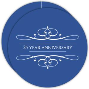 Elegant Swash Wedding Anniversary Invitation
