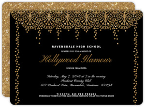 Old Hollywood Glam Prom Invitation
