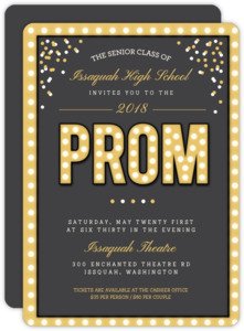 Golden Lights Magical Prom Invitation