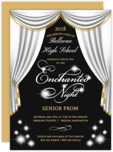 Beautiful Diamond White Enchanted Prom Invitation