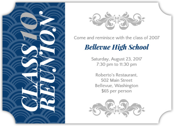 Class Reunion Invitations Templates orderecigsjuiceinfo