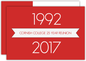 Banner School Reunion Invitation