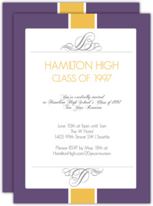 Formal Class Reunion Invitation