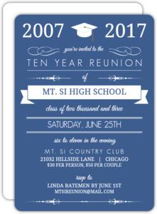 Blue Banner Class Reunion Invitation
