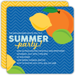 Citrus Punch Summer Party Invitation
