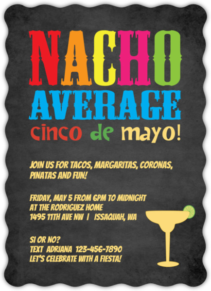 Margarita Glass Cinco De Mayo Invitation