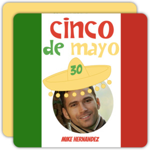 Mexican Flag Cinco De Mayo Party Invitation