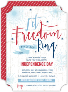 Let Freedom Ring 4th of July Party Invitation