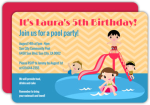 Splish Splash Pool Party Invitation
