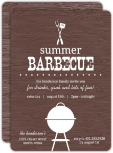 Brown Western BBQ Summer Party Invitation