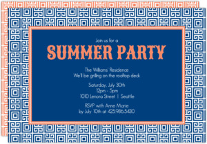 Key Pattern Summer Party Invitation