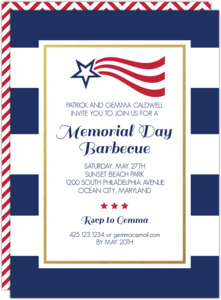 Stars and Stripes Memorial Day Invitation