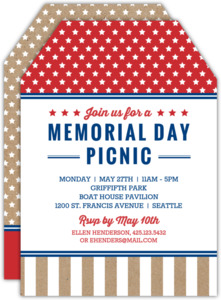 Kraft Stars Memorial Day Invitation