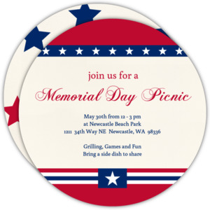 Patriotic Stars Memorial Day Invitation