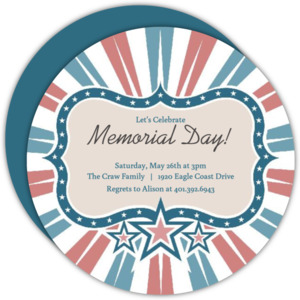 Red and blue star frame memorial day invitation 4545 0 big circle