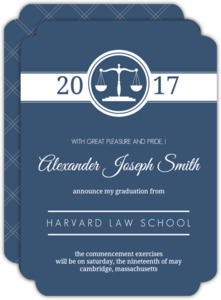 classic law scales law school graduation - Law School Graduation Invitations