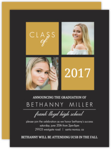 Classic Blocks Graduation Invitation