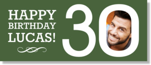 Modern Green 30th Birthday Banner