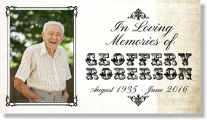 Loving Memories Vintage Photo Banner
