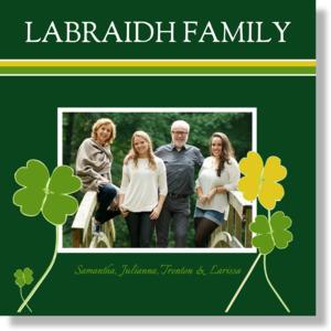 Green & Yellow Clover Family Framed Prints