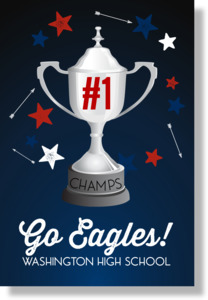 Number One Champs Sports Poster Print