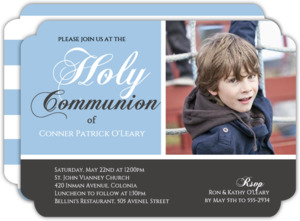 Photo Holy Communion Invitation