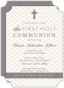 Chevron Cross Communion Invitation
