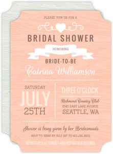 Rustic Banner Bridal Shower Invite
