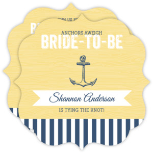 Anchors Away Bridal Shower Invitation