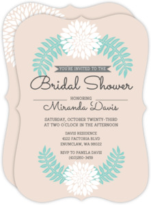 Palm Leaves Bridal Shower Invitation