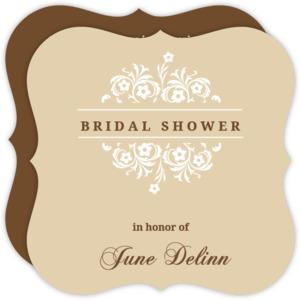 Formal Flowers Bridal Shower Invite