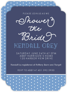 Polka Dot Bridal Shower Invitation