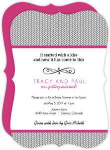 Herringbone Pattern Bridal Shower Invitation