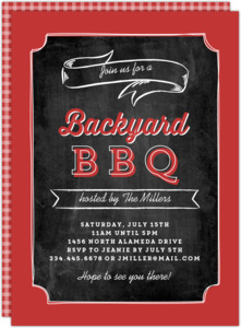 Chalkboard Backyard BBQ Party Invitation