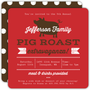 Modern Pig Roast BBQ Invitation