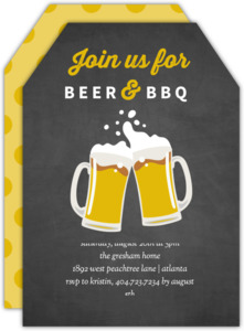 Chalkboard Beer and BBQ Invitation