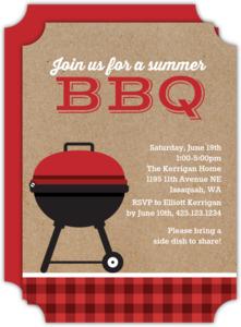 Kraft Grill BBQ Party Invitation