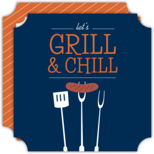 Grill and Chill BBQ Invitation
