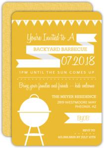Orange and White Modern BBQ Party Invitation