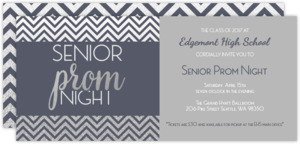 Grey and Silver Prom Night Invitation