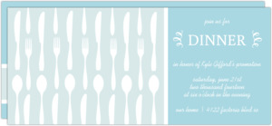 Spoons Forks And Knives Oh My Blue Dinner Invitation