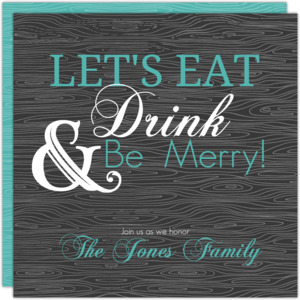 Eat Drink And Be Merry Dinner Invite