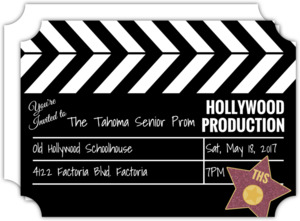Hollywood Movie Prom Invitation