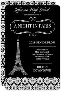Parisian Damask Prom Invitation