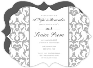 Antique Damask Prom Invitation
