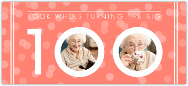 100th birthday invitations, Birthday invitations